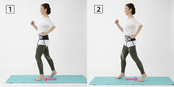 走るように脚を動かす運動