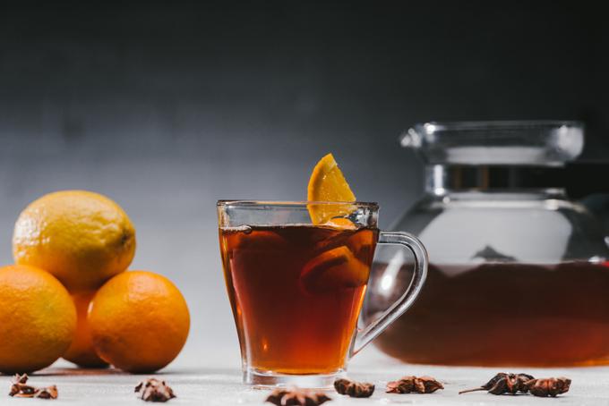 紅茶にみかん