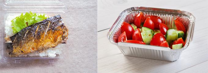 塩さば弁当 トマトのサラダ