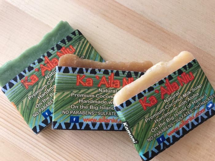 ハワイのナチュラル石鹸3種