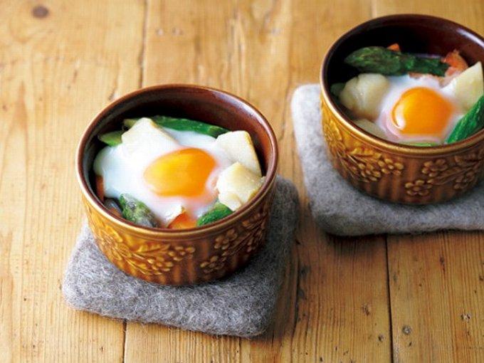 ほたて&卵の具だくさんココットの完成イメージ