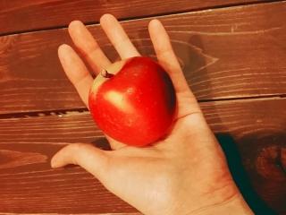 ロキット™アップルが手のひらに乗っている