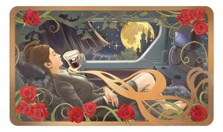 車に乗っている女性の画像