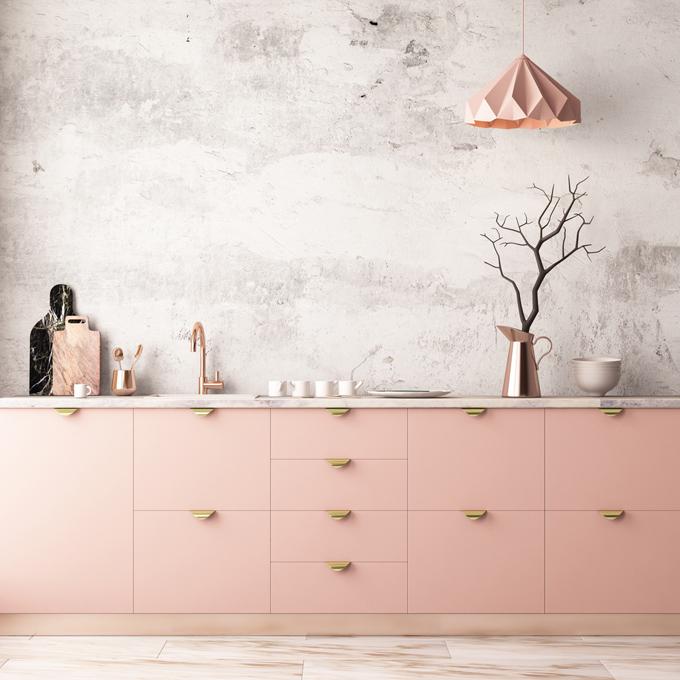 ピンクの配色のお部屋