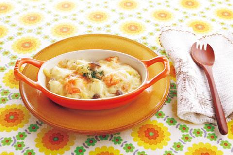 豆腐のクリームソースグラタンの完成イメージ