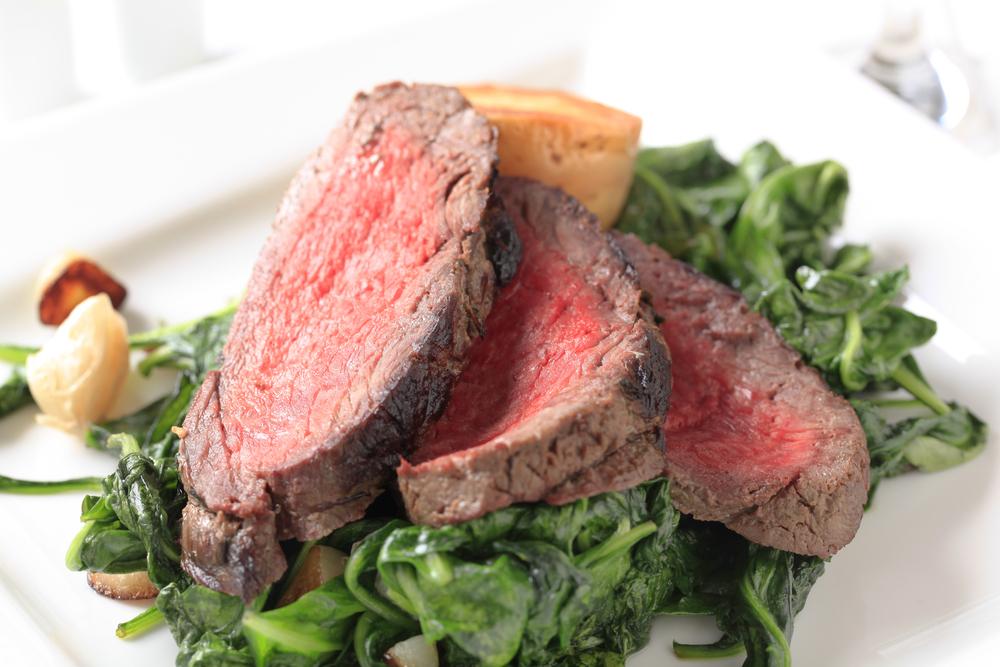 牛肉とほうれん草の料理