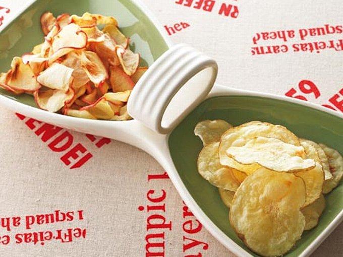 ポテトとりんごのサクサクチップスの完成イメージ