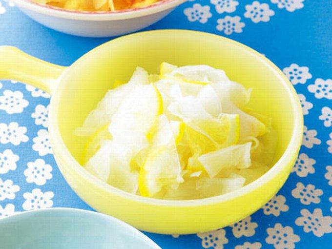 大根のはちみつレモンあえの完成イメージ