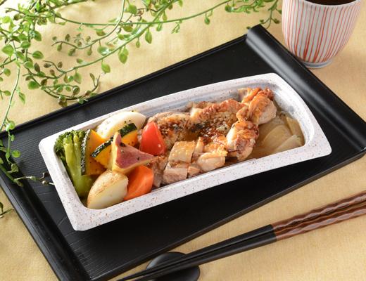 公式サイトで掲載された「グリルチキン&彩り野菜」の画像