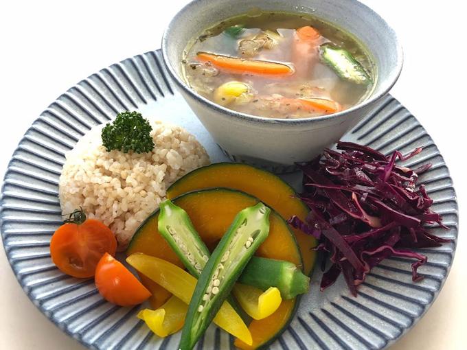 野菜たっぷりスープカレーのできあがり