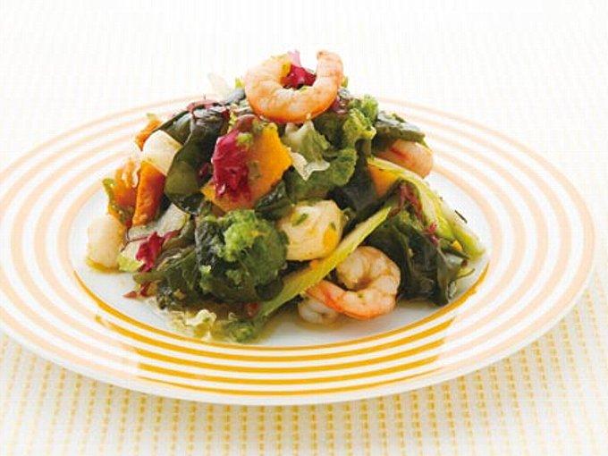 きゅうりおろしの魚介系サラダの完成イメージ