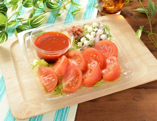 公式サイトで掲載された「1/2日分の野菜が摂れるまるごとトマトの冷製パスタ」の画像