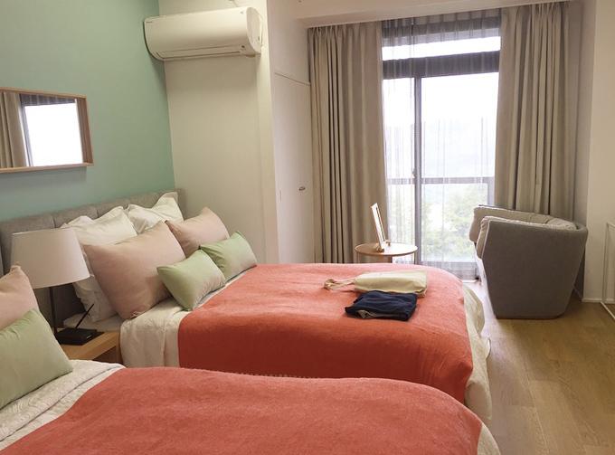 ビオテラスオルガニカ箱根の寝室