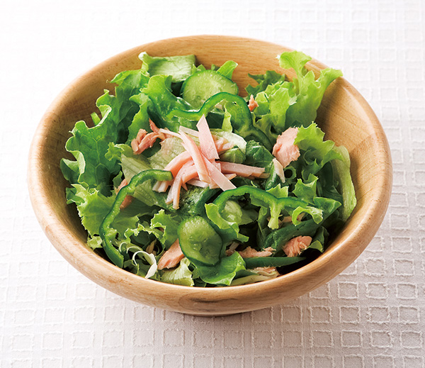 ツナとハムのグリーンサラダの完成イメージ