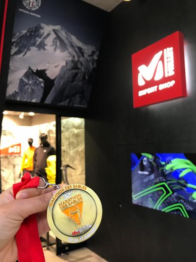 ミレーショップと完走メダル