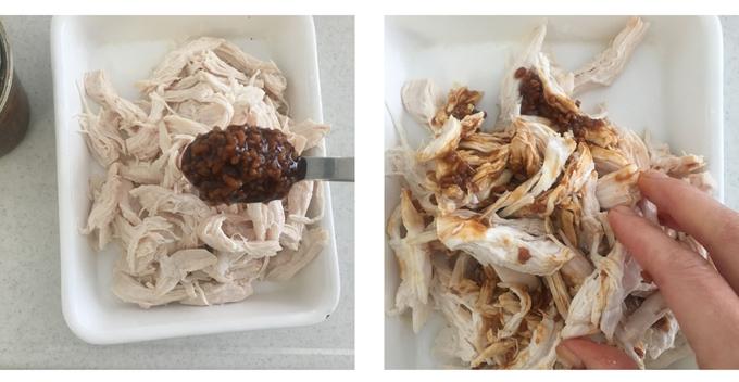 鶏むね肉の味つけ