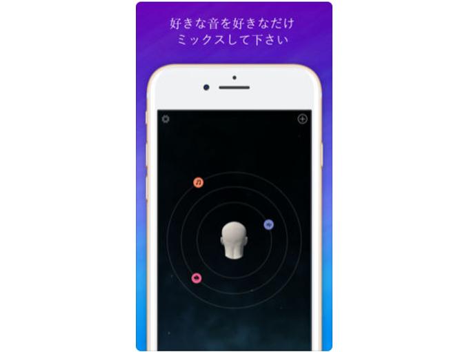 3種類のサウンドがユーザーの周りを回転しているイメージ画像