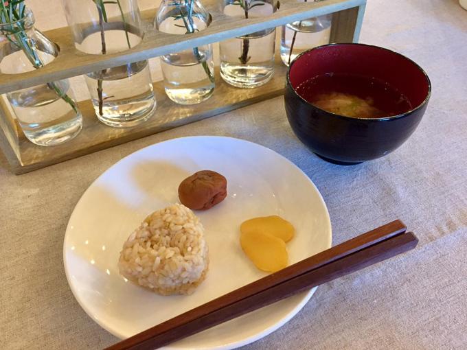 山村氏の断食療法の最初の食事