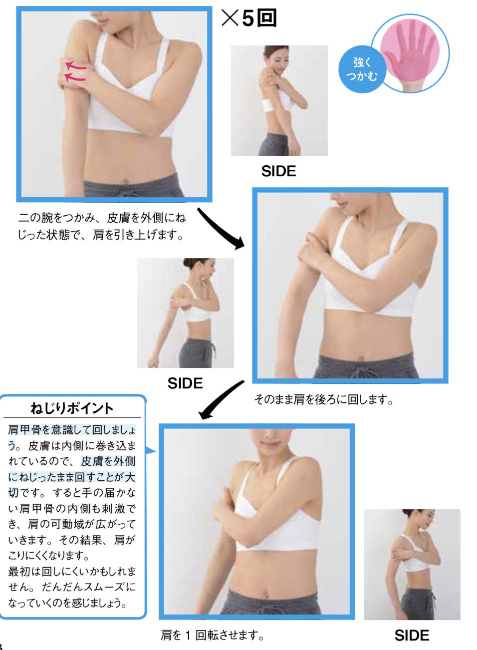 皮膚ねじりダイエット二の腕工程2