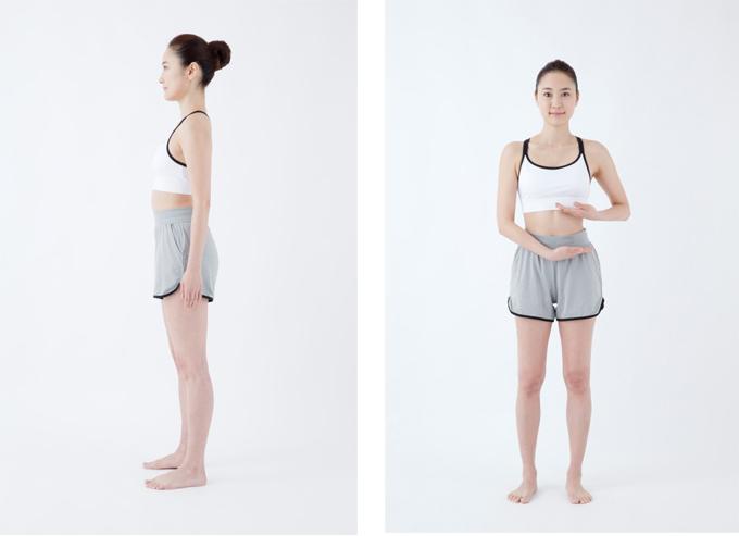 正しい姿勢横から  正しい姿勢のつくり方イメージ