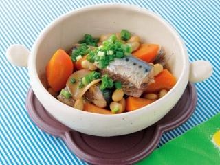 大豆といわしのしょうが煮の完成イメージ