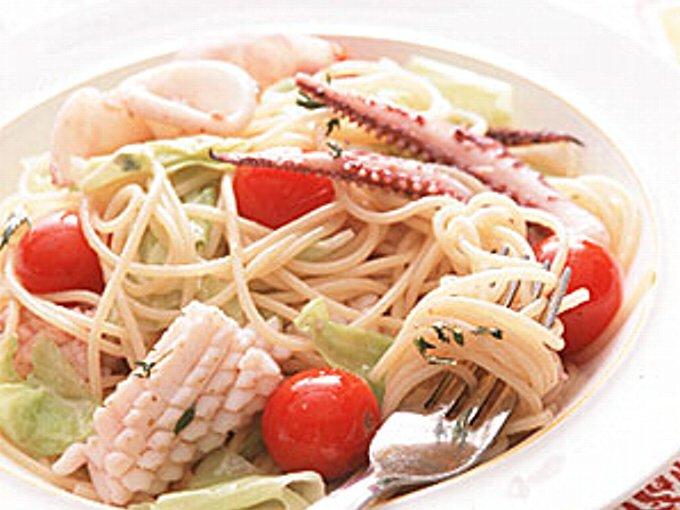 いかのスパゲッティの完成イメージ