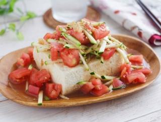 食欲のない夏バテ時にもぴったり♪「トマトとザーサイの冷奴」#明日の朝ごはん
