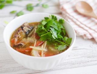 人気のお魚缶詰でつくれる♪「いわしのエスニックスープ」#明日の朝ごはん