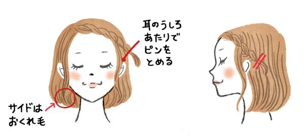 前髪ツイスト留め