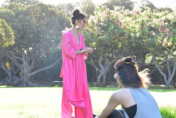 ピンクの衣装の野沢さん