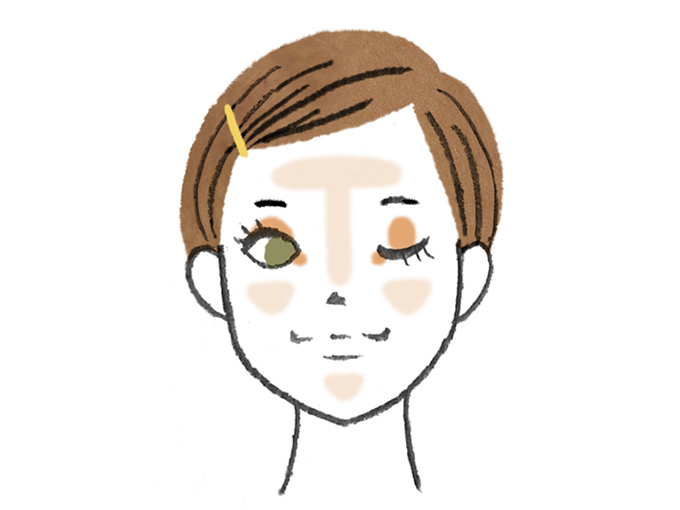 夏の小顔アイシャドウメイクの仕方