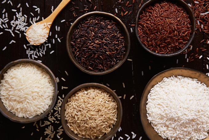 5種類の穀物の画像