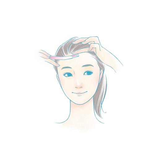 おでこ・眉の顔剃りイラスト