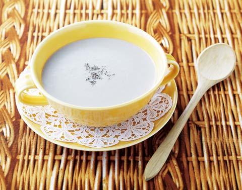 きのこの豆乳ポタージュの完成イメージ