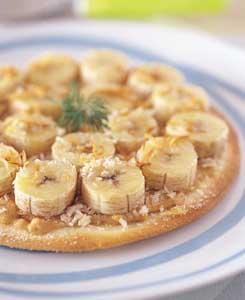 バナナのピッツァの完成イメージ