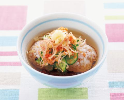 さけと香味野菜のひんやり麦茶漬けの完成イメージ