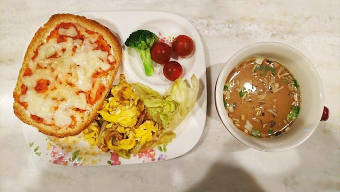 松村先生の洋朝食
