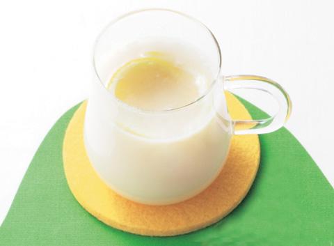 甘酒味のホットレモネードの完成イメージ