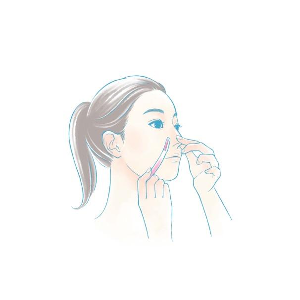 鼻・口・あごの顔剃りイラスト