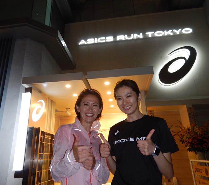 有森裕子さんとヤハラリカの2ショット