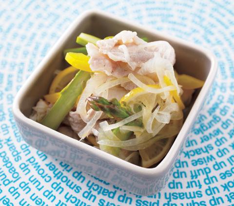 ゆで豚と野菜のレモンマリネの完成イメージ