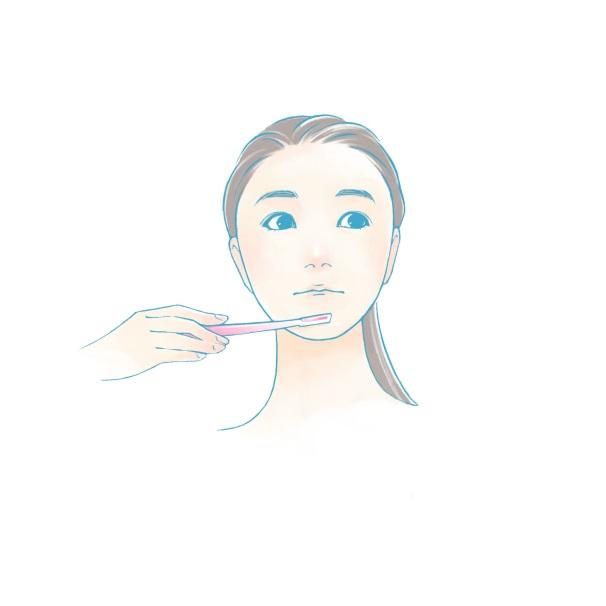 フェイスラインの顔剃りイラスト