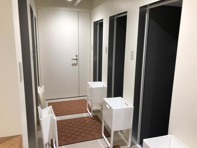 アシックスランのシャワールーム