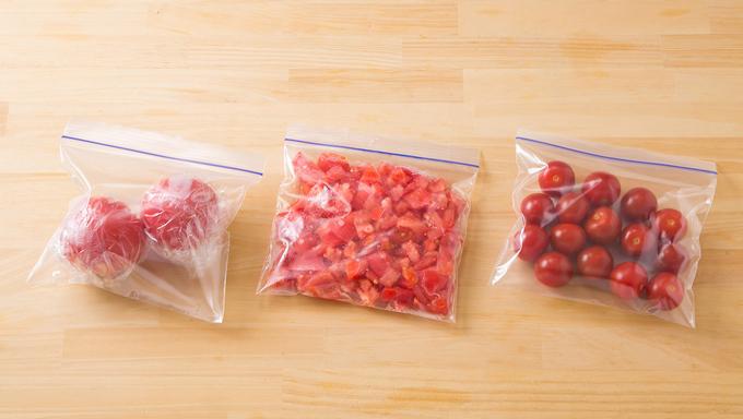 冷凍保存されたトマト
