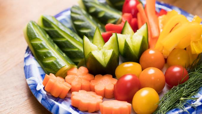 きれいに切られた野菜