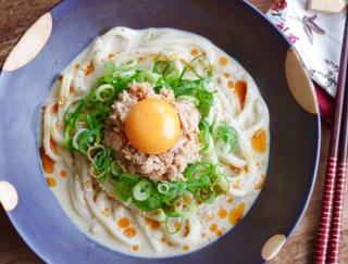 朝からがっつり食べたいときに!ピリ辛がおいしい♡「冷やし坦々ツナうどん」#明日の朝ごはん