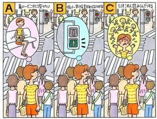 【心理テスト】人が賑わうスクランブル交差点で、あなたは信号待ちをしています。あなたの頭に浮かんだことは?