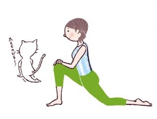 【今日のねこストレッチ】運動不足さん必見!歩き方がキレイになる美脚ポーズ