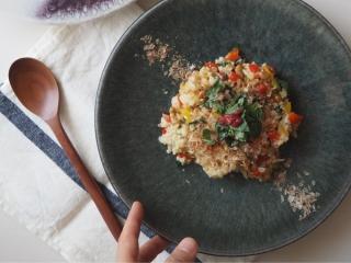 モロヘイヤと納豆のパワー玄米チャーハン