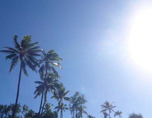 ハワイの青空